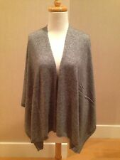 HEATHER GRAY Cashmere Blend Open Front Poncho Cape One Size NWT