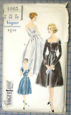 1950s Vogue #4065 Sewing Pattern -  Vogue Special Design - Dress or Gown