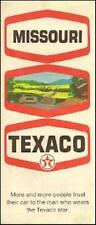 1970 TEXACO OIL Gas Station Locator Road Map MISSOURI Springfield Jefferson City