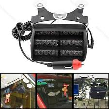 18 LED Emergency Flash Warning Strobe Light White #B With Car Cigarette Adapte