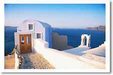 Greek House by the Sea - Greece Travel Print - NEW POSTER