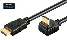 HDMI Kabel gewinkelt 5m nach unten High Speed with Ethernet FULL HD 3D 270° 5,0m