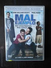DVD MAL EJEMPLO - EDICION DE ALQUILER - SEANN WILLIAM SCOTT - PAUL RUDD
