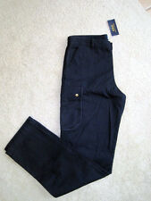 NWT($50) . POLO Ralph Lauren .Jr. Girl's Navy Blue Cargo Pants . Sz. 20