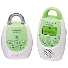 Audioline Baby Care 7 Babyphone Nachtlicht, 300m Reichweite, Akku, weiss-grün