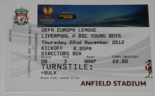 Ticket for collector EL Liverpool FC England Young Boys Bern Switzerland Schweiz