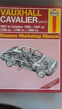 Vauxhall Cavalier (gasolina) 1981-88, 1297-1988cc Manual de taller Haynes 812