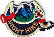 """NIGHT HIKE"" - HIKER - SPORTS - OUTDOORS - HIKING -  Iron On Embroidered Patch"