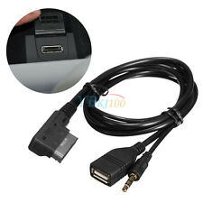 Music MDI AMI MMI Interface USB+Charger AUX Cable For Audi A6L A8L Q7 A3 A4L A5