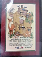 St Francis Friends Animal Prayer Bucilla Counted Cross Stitch Kit 40901 New USA