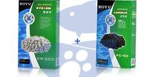 Carbon Activado de 500g + Canutillos Ceramicos 500g para filtro acuario Activo