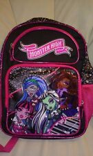 """Monster High 16"""" Brightly Colored School Backpack Excellent Condition!"""