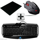 Gamer Bundel Skiller Gaming Tastatur + A4Tech Bloody V7 Gamer Maus + Gaming Pad