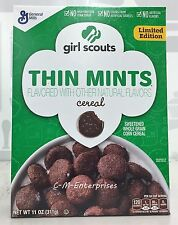 Girl Scouts Thin Mints Cereal 11 oz General Mills Limited Edition