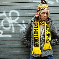 Fred Fuzz like Crime Scene Scarf Yellow Do Not Cross Crime Scene FAST SHIPPING