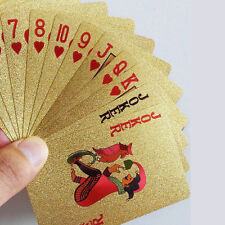 High Grade 24K Gold Foil Plated Poker Waterproof Playing Cards Creative Gift