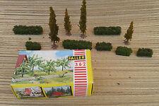 Lots de pièces train miniature,boite d'arbre miniature Faller, old french toys