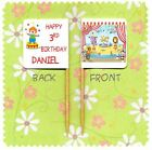 20 PERSONALISED CIRCUS CUP CAKE FLAG Birthday Party Pick Food Topper Clown