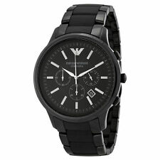 Brand NEW Emporio Armani AR1451 Men's Casual Watches Ceramic Display Date Black