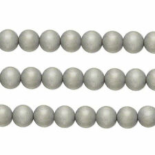 Wood Round Beads Light Grey 6mm 16 Inch Strand