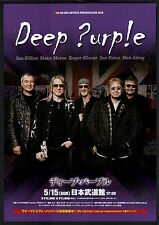 2016 Deep Purple JAPAN concert tour flyer / mini poster MINT