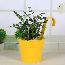 6 Inch Flower Pots Garden Balcony Hanging Planter Iron Bucket Holders Orange