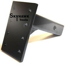 "Trailer Truck Receiver Pintle Mount 2"" 10,000 lbs HD Hitch Adjustable Flat Plate"