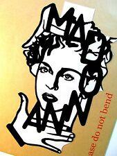 """MADONNA Original Pop Art,Music Celebritie Vinyl Sticker 5""""X9"""" inches Portrait"""