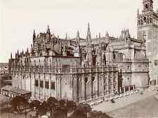 Beauchy. Espagne, Sevilla, vista general de la cathedral  Vintage albumen print