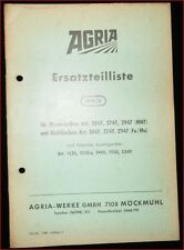 Agria Ersatzteilliste für Messerbalken und Mulchbalken