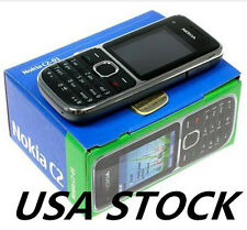 Nokia C Series C2-01 Black (Unlocked) 3.2 MP Camera Mobile Phone US, NY stock!