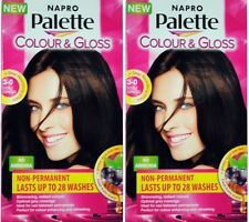 2 x NAPRO PALETTE COLOUR & GLOSS HAIR COLOUR 3-0 DOUBLE ESPRESSO 100% Brand New