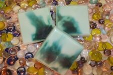 HOME-MADE OLIVE OIL/SHEA/OLIVE OIL SOAP..CUCUMBER/MELON 4 oz BARS