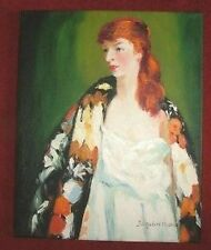 F : Kimono Lady Oil Painting : J Urquhart Watson : Give Fine Art