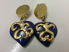 # Arty Saint Laurent Ysl aretes orejas Earrings blogueros festival lapis lazuli