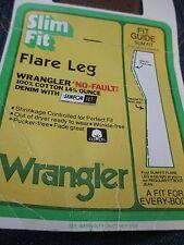 Vintage DEADSTOCK WRANGLER FLARE LEG SANFORIZED DENIM JEANS 70s nwt size 34 x 36