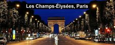 PANORAMA FRIDGE MAGNET of THE CHAMPS ELYSEES PARIS FRANCE