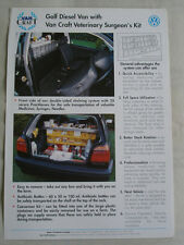 VW Golf Diesel Van with Vetinary Surgeons Kit brochure c1994 Irish market