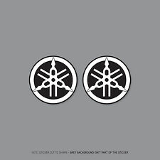 SKU2198 - 2 x Yamaha Tank Panel Round Emblems Decals Stickers - 50mm