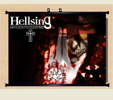 Home Decor Japanese Anime Wall poster Scroll Hellsing Alucard Cosplay Art  24X16