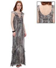 LALTRAMODA Made in Italy maxi silk dress abito vestito donna lungo seta 42 BNWT
