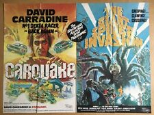 Carquake & The Giant Spider Invasion QUAD Cinema POSTER - Grindhouse Double Bill