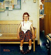 """Girl With Black Eye 1953 Norman Rockwell Print  8"""" x 9""""  Matted 11"""" x 14"""""""