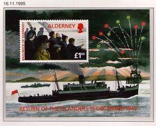 Guernsey Alderney 1995 Return of Islanders Anniv SG MSA84 MNH