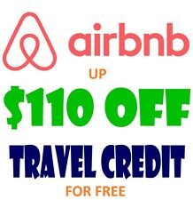 AIRBNB  $110 TRAVEL CREDIT $40 OFF DISCOUNT Promo Code for NEW ACCOUNTS - READ !
