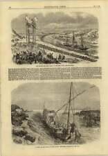1869 Empress Eugenie Yacht Suez Canal Pasha Visitors Great Cataract Nile