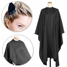 SALON HAIRDRESSING BARBER UNISEX BLACK DELUXE CAPE NO MES HAIR CUTTING ADULT KID