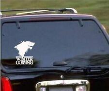 Game Of Thrones Winter Coming Stark Wolf Car Door Sticker Vinyl SS