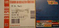 VIP TICKET 2. BL 2015/16 Union Berlin - FC St. Pauli