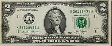 NEUF-Amérique, USA Billet 2 Dollars ($2USD TWO DOLLAR Bill) - NEUF - NON CIRCULE
